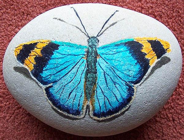 Taş Boyama Sanatı Mobilya Dekorasyon Fikirleri