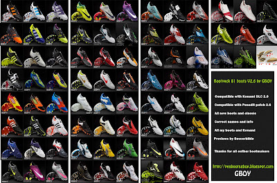 megabootpack81boots PES 2012: Mega Bootpack 81 Chuteiras v2.6
