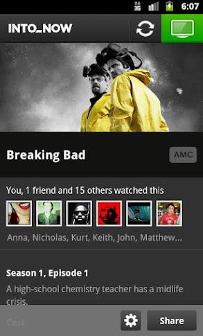 TV show recognition IntoNow app