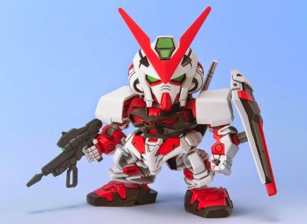Lắp ghép SD Gundam Astray Red Frame BB-248 không tỷ lệ, cao khoảng 8 cm