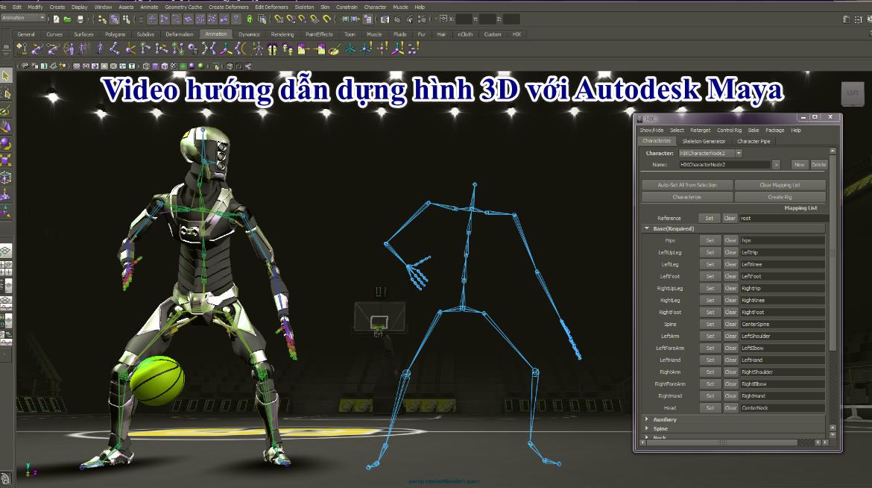 Video hướng dẫn dựng hình 3D với Autodesk Maya