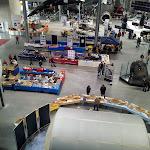 Blick auf die Modellausstellung von oben
