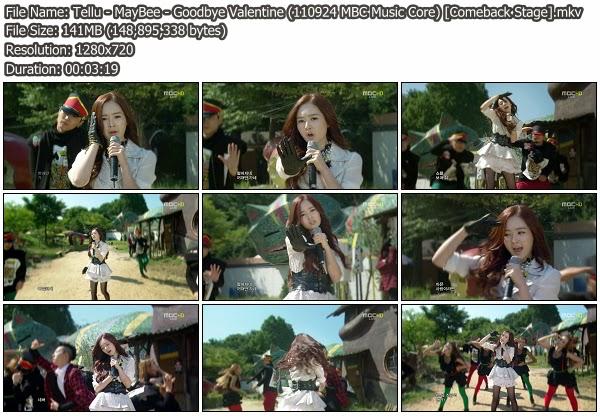 MayBee Goodbye Valentine (110924 MBC Music Core) K2Ost live Performance free download korean song kpop kdrama ost lyric 320 kbps