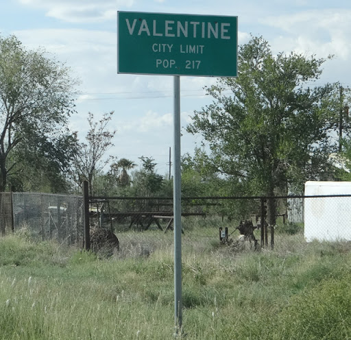 Valentine, TX sign