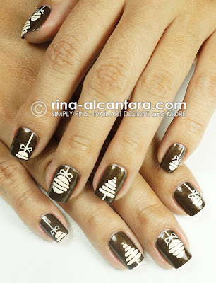 Vintage Christmas Nail Art by Simply Rins