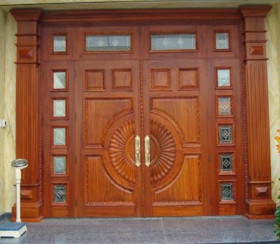 Mẫu khóa cửa gỗ 4 cánh tự nhiên
