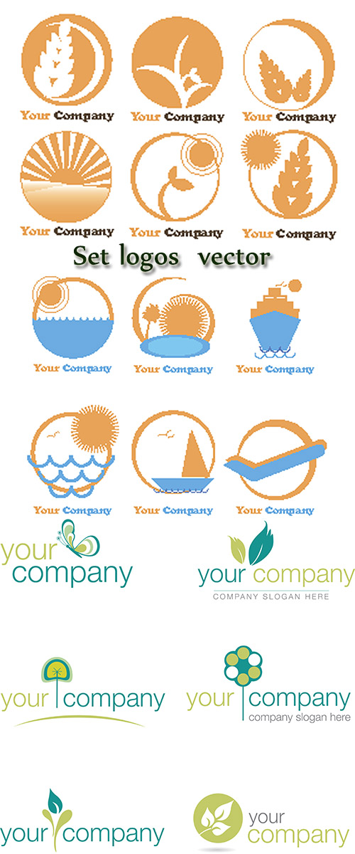 Stock: Set logos vector