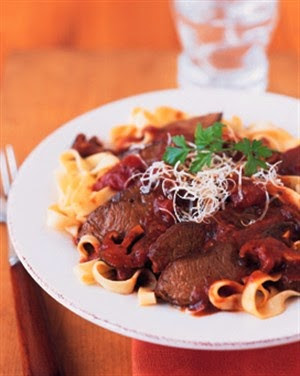 Italian Braised Parmesan Beef with Wild Mushroom Sauce Recipe - Diabetic Gourmet Magazine - DiabeticGourmet.com
