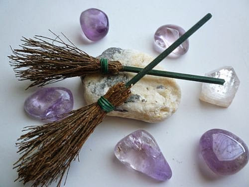 Altar Broom Magic Witchcraft Witch Wicca By Witchstore