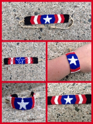 20fd1788c4f7c Bracelets from Newfoundland: Captain America's Shield