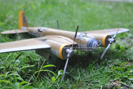 Tupolev SB German Luftwaffe Bomber Papercraft Avia B71