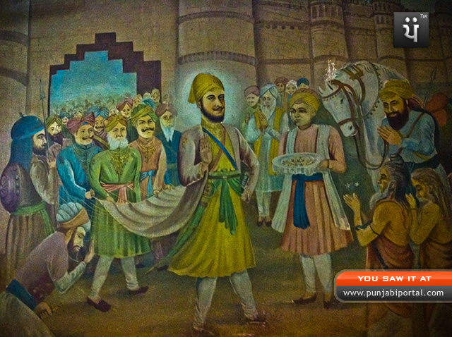 6th Guru of Sikhs Shri Guru hargobind singh ji's chola that he wore while he freed the 52 kings from Gawaliar Fort