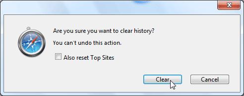 Delete History Safari