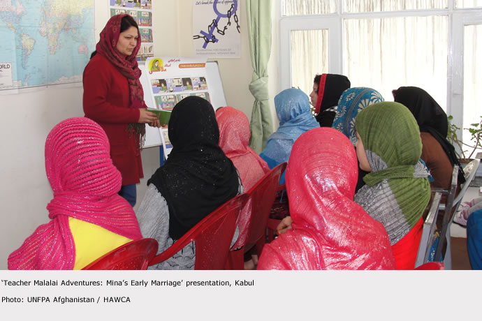 INTERNATIONAL WOMEN DAY 2012 IN AFGHANISTAN: UNFPA EMPHASIZES PHYSICAL AND SOCIAL CONCEQUENCES OF EARLY MARRIAGE