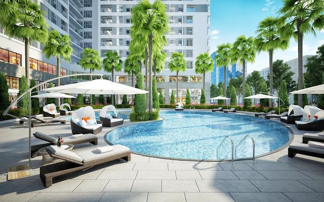 Tiện ích bể bơi tại Rivera Park Hà Nội