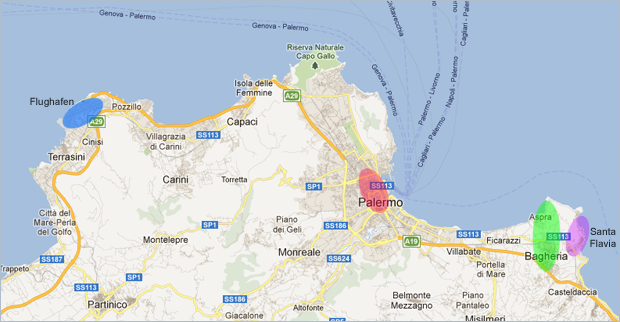 Die Umgebung von Palermo