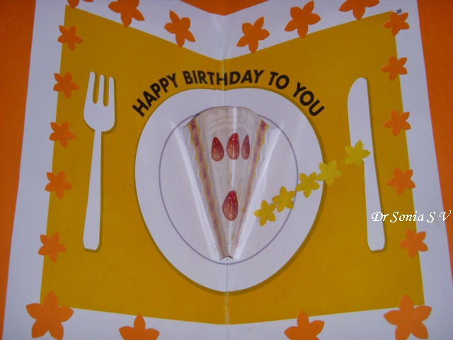 Cards Crafts Kids Projects Pop Up Cake Card