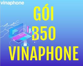 Gói B50 Vinaphone có 250 phút gọi, 250 SMS nội mạng, 600MB