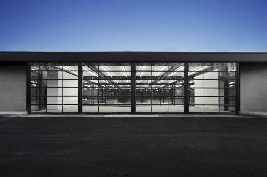 Conversion of Mies van der Rohe gas station on Nuns Island, Montreal by Les architectes FABG