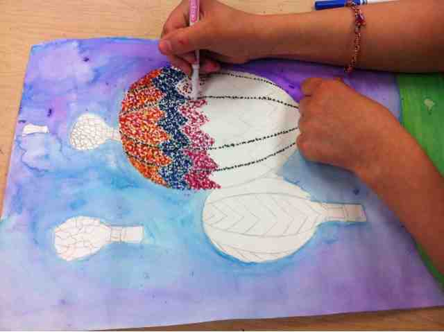 Tiny hands art pointillism projects for 4th grade craft projects