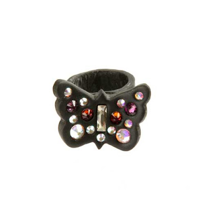 Butterfly Resin Clay Crystal Ring