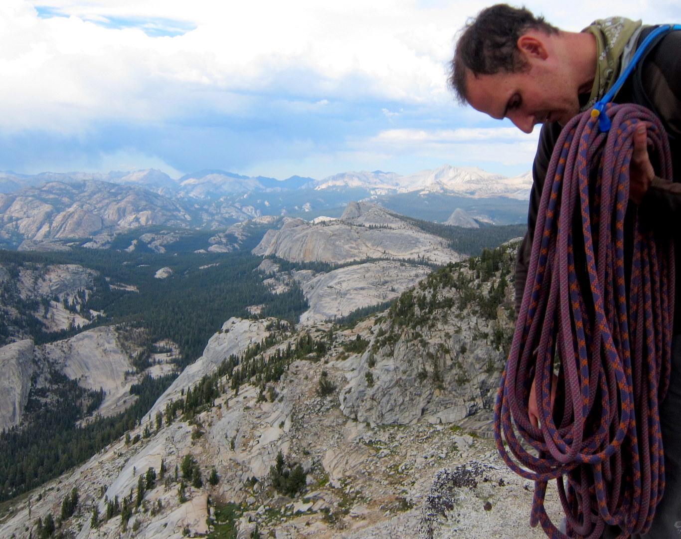 The view from the top of Tenaya Peak