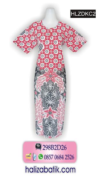 contoh motif batik, model pakaian batik wanita, daster batik