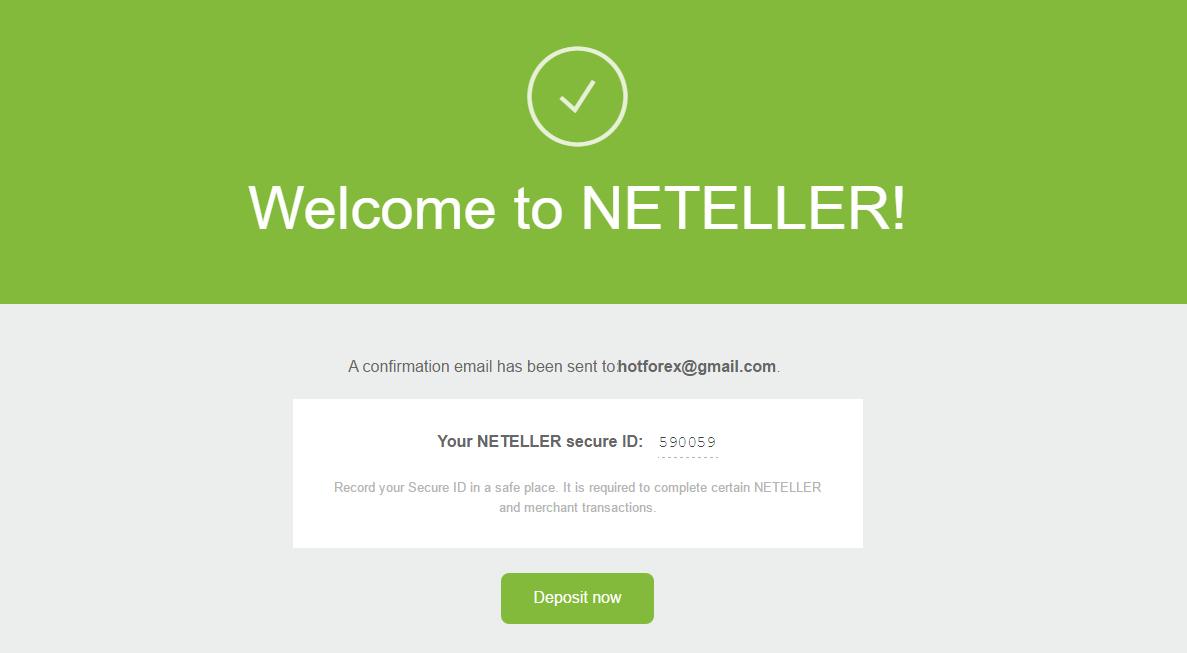 Thông tin tài khoản Neteller