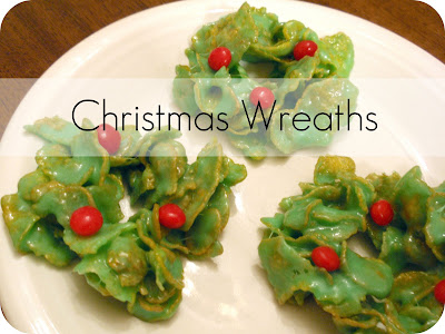 corn flake christmas wreaths