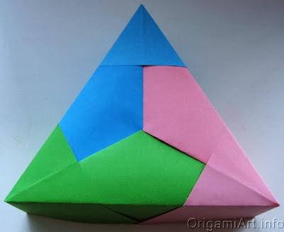 треугольная коробочка. Схема