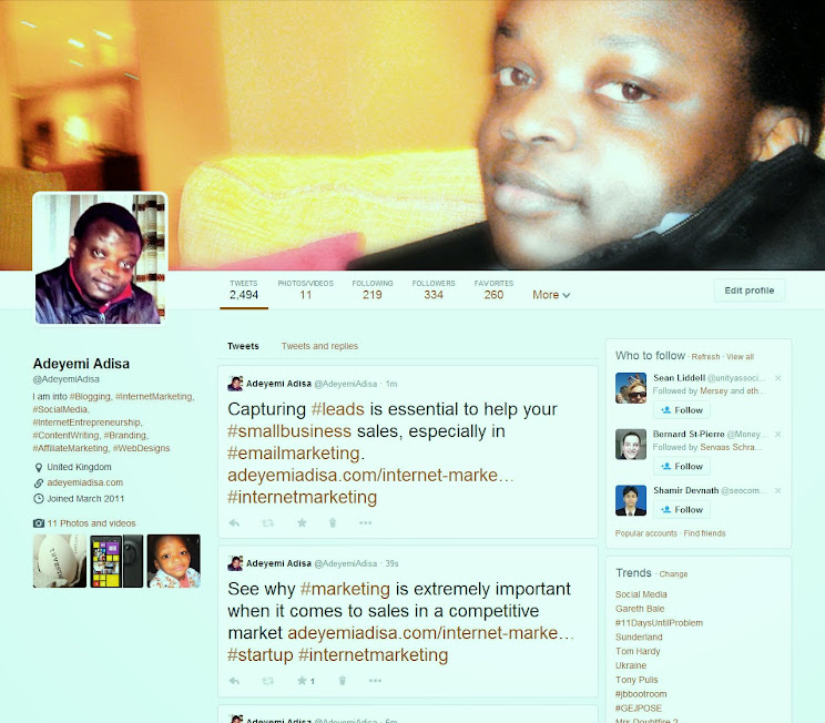 New Twitter profile page