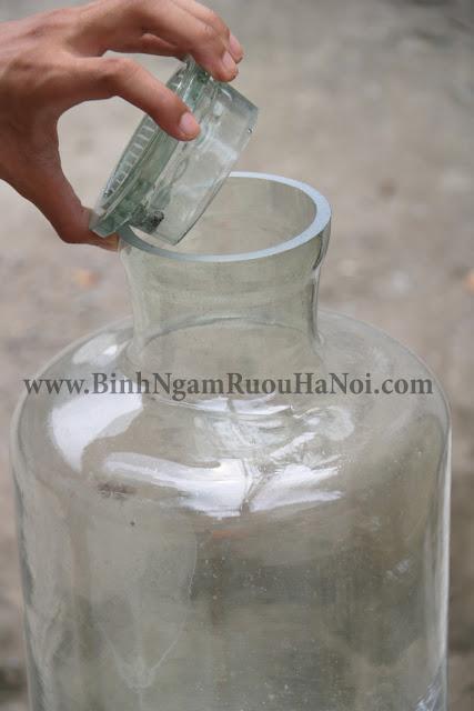 Binh thuy tinh nap day 15 lit gia re