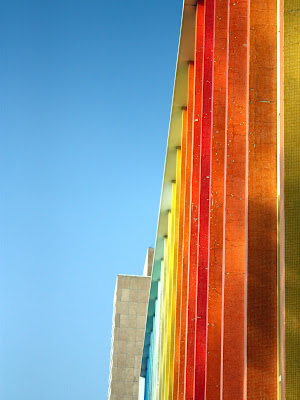 Colorful building in Tel Aviv Israel