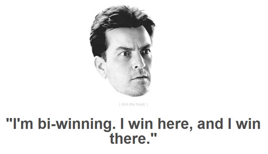 charlie sheen winning duh. Charlie Sheen is Winning. Duh!