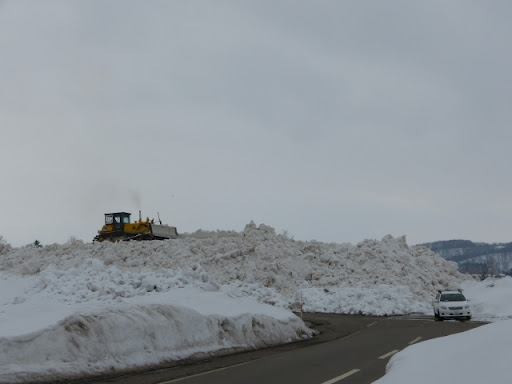 まだ、1m以上の雪が残っています