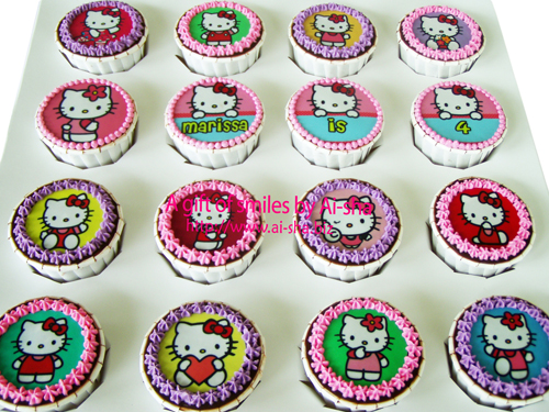 Birthday Cupcake Edible Image Hello Kitty Ai-sha Puchong Jaya