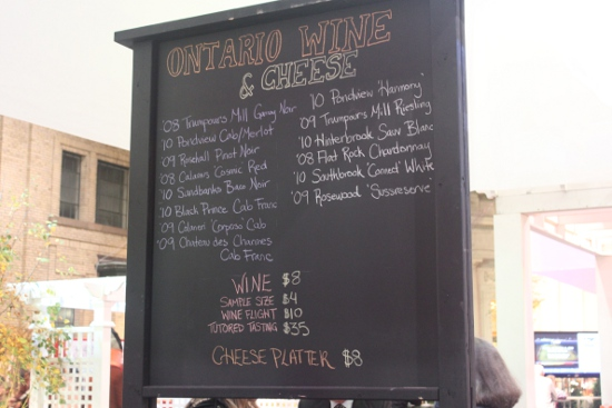 The wine menu is all Ontario and includes many award-winners.