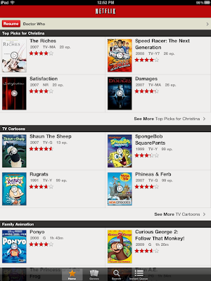 Netflix iPad App version 1