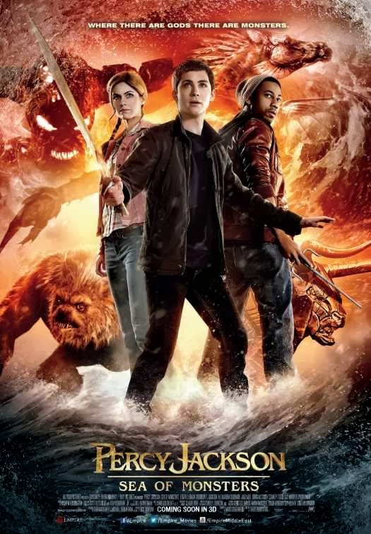Poster Of English Movie Percy Jackson: Sea of Monsters (2013) Free Download Full New Hollywood Movie Watch Online At Alldownloads4u.Com