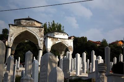 Cemetery in Sarajevo Bosnia