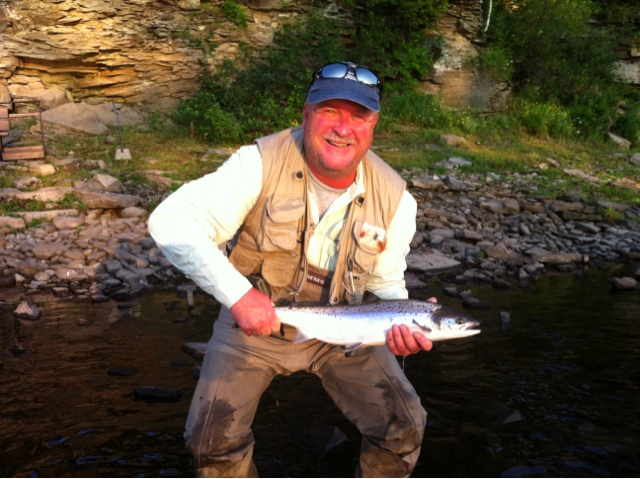 Rod 39 s miramichi fishing reports salmon in the system for Seven b s fishing report