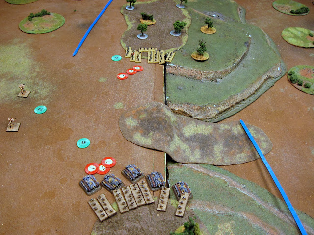 The HQ doubles and takes out the Speeders in a crossfire.