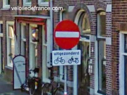 Panneau contre-sens cyclable, Pays-Bas