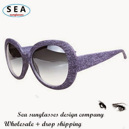 cat eye sunglasses male glasses Women faux denim anti-u