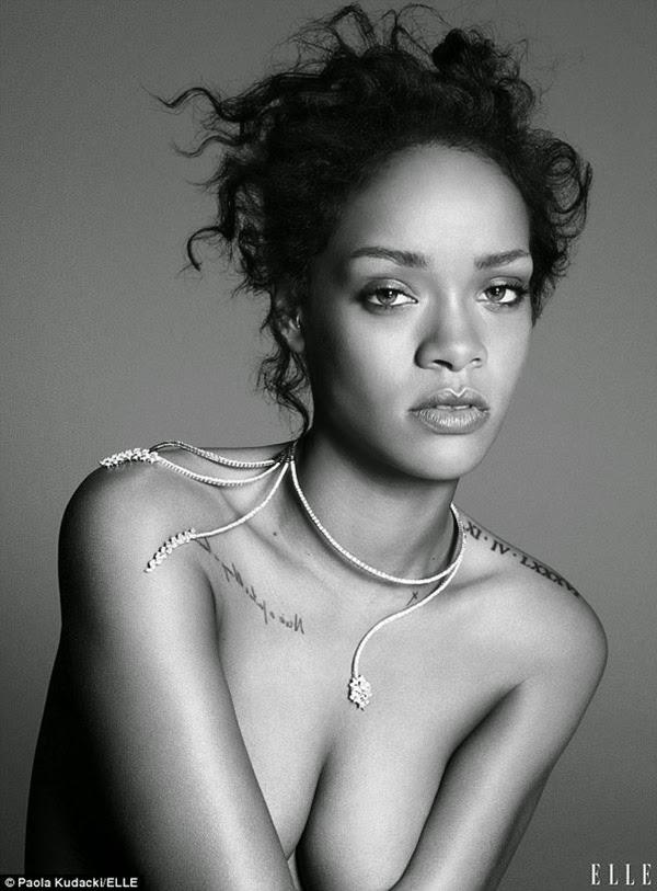 Rihanna sexy, bán nude đầy khiêu khích trên tạp chí ELLE
