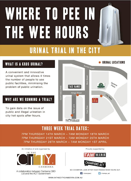 urinal trial poster