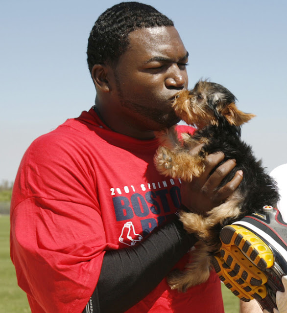 David Ortiz and his dog