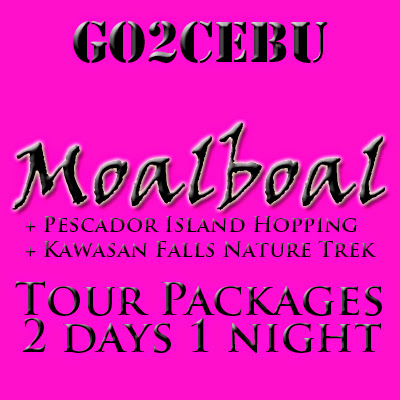 Moalboal Beach Adventure + Pescador Island Hopping + Kawasan Falls Nature Trek in Cebu Tour Itinerary 2 Days 1 Night Package