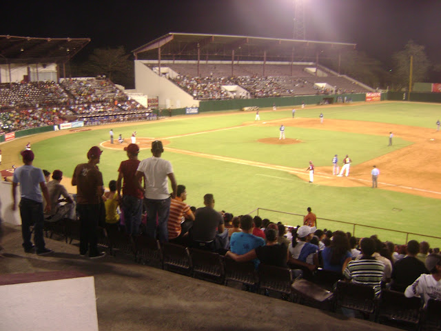 Live action from the Julian Javier stadium of the Gigantes del Cibao