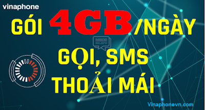 Danh sách Gói 4GB 1 Ngày Vinaphone, Miễn Phí Gọi vô tư
